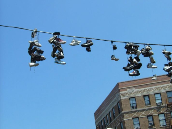 shoes on powerline